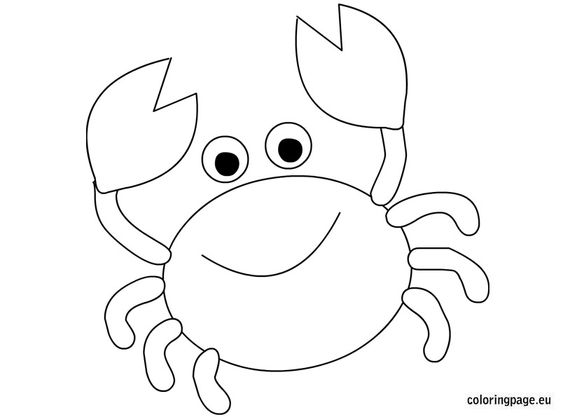crab coloring page  animals  pinterest  coloring