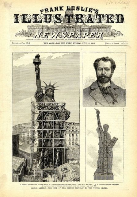 Old photos of the Statue of Liberty standing in Paris were extraordinarily surreal:
