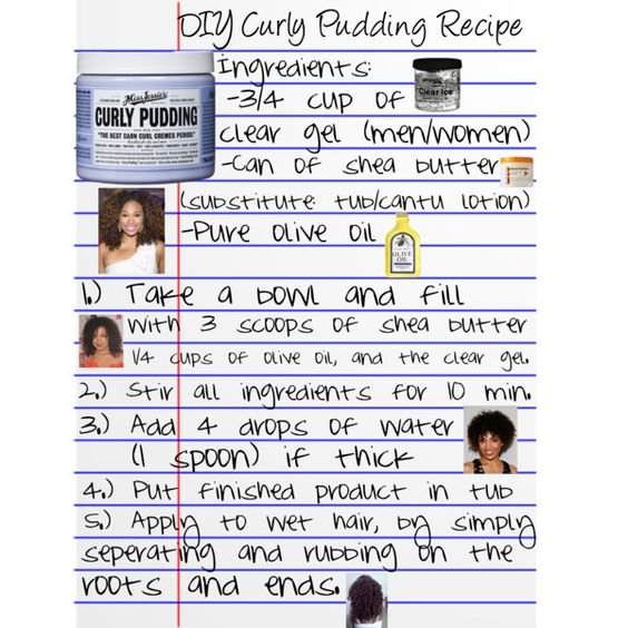 DIY Curly Pudding Recipe Starting My Natural Hair Journey