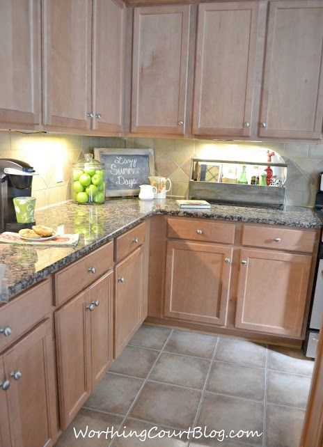 All About the Details Kitchen Tour | Morning dew, Cabinets ... on Gray Countertops With Maple Cabinets  id=91372