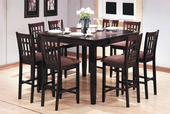 PC Pub Style Dining Set (Table + 8
