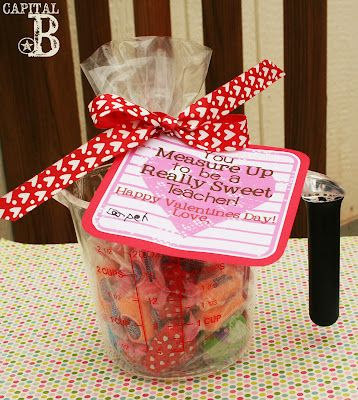 Teacher Valentines Fill Up A Measuring Cup With Candy For