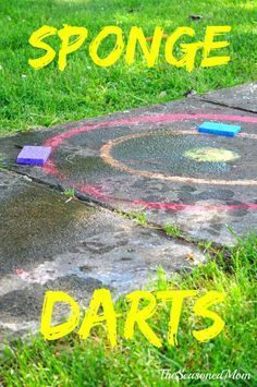 Sponge Darts -- Cheap and easy summer activity for the kids!:
