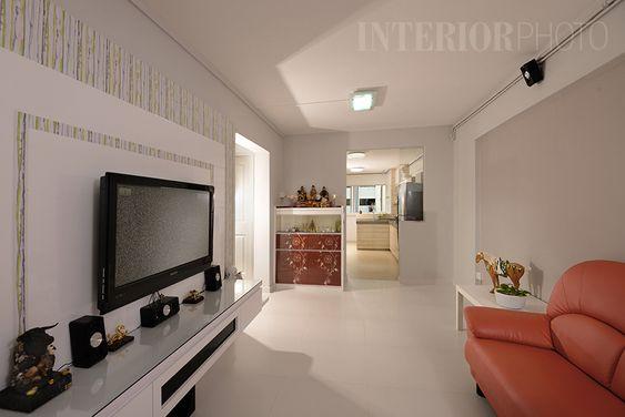 Bedok 3 Room Flat #hdb #home #interior #kitchen #living