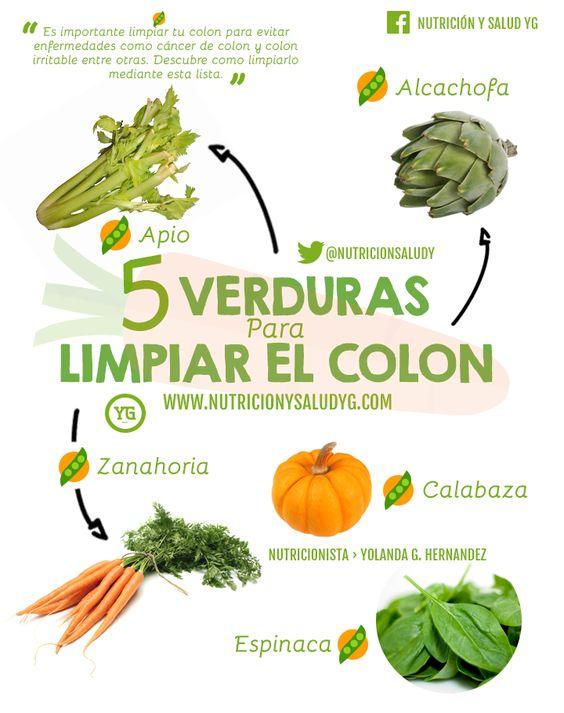 Alimentos que limpian el colon