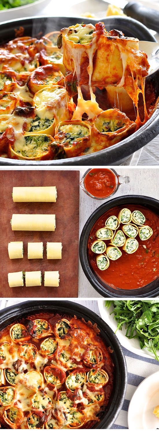 Baked Spinach and Ricotta Rotolo | Click Pic for 20 Easy Baked Pasta Recipes for Dinner | Easy Healthy Dinner Recipes for Family: