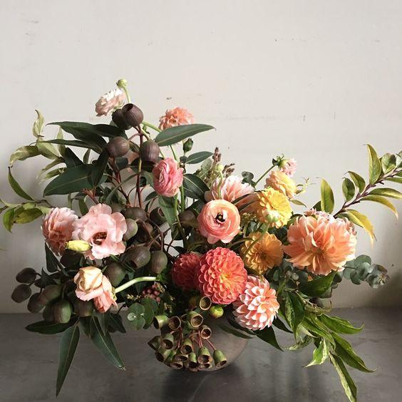 winter floral arrangement-my favorites