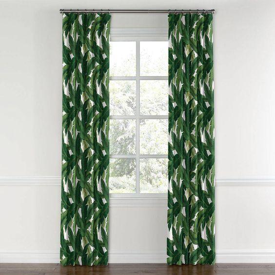 palm print curtains