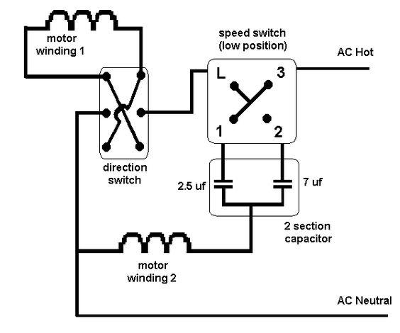 Hunter Ceiling Fan Pull Switch Wiring Diagram