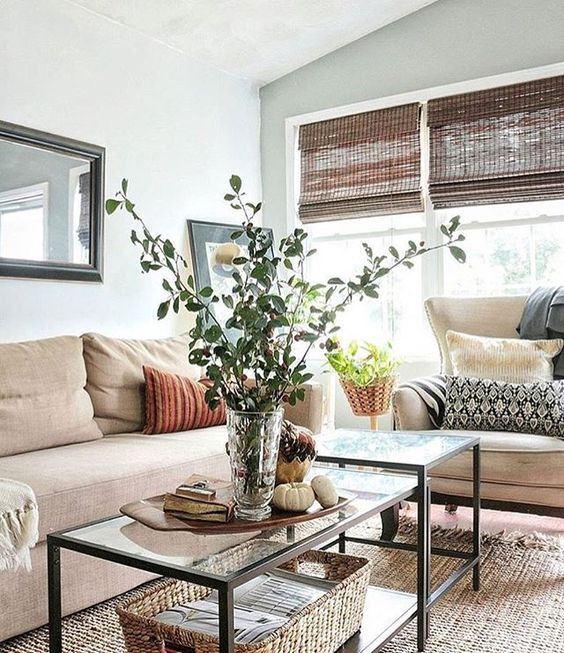 Create a natural look to your living room by accessorizing with a beautiful handmade jute rug! @fwmadebycarli Link in bio to shop rug. #home #homedecor #interiordesign:
