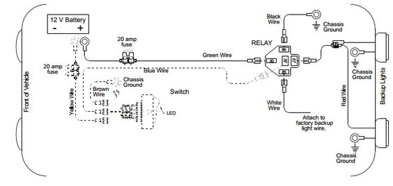 Back-up Light Wiring Diagram