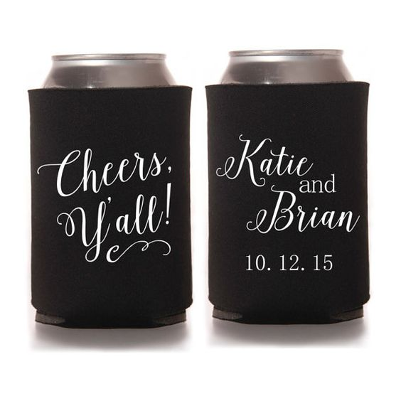 Rustic Wedding Favors Cheers Yall Personalized Southern