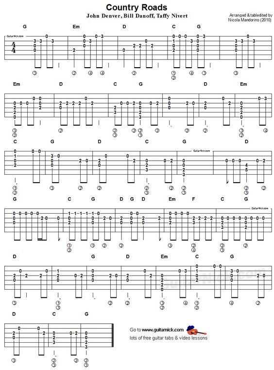 Country roads John denver and Acoustic guitars on Pinterest