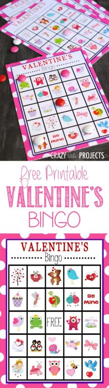 *FREE* Printable Valentine's Day Bingo Cards: