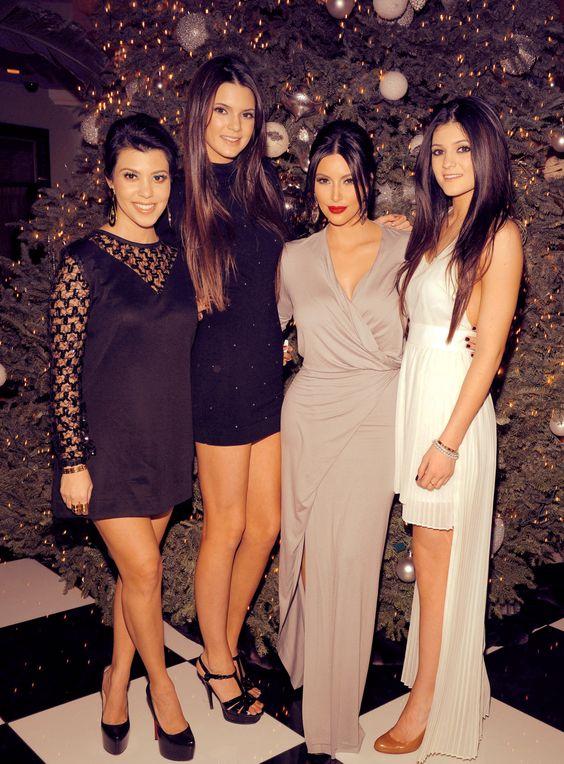 Kourtney Kardashian, her sisters Kendall Jenner, Kim ...