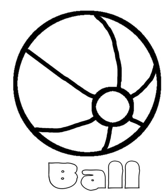 beach ball coloring page  coloring pages  pinterest