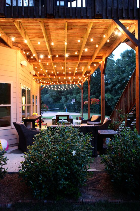 outdoor living lighting and string lights on pinterest on awesome deck patio outdoor lighting ideas that lighten up your space id=97957