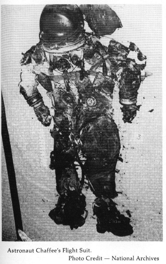 Astronaut Ed Chaffee's space suit after the tragic Apollo ...