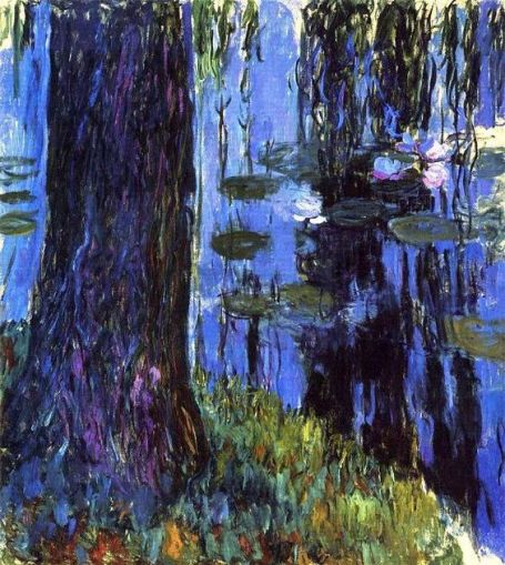 Claude Monet - Weeping willow and water-lily pond, 1919. Oil on canvas. Private Collection: