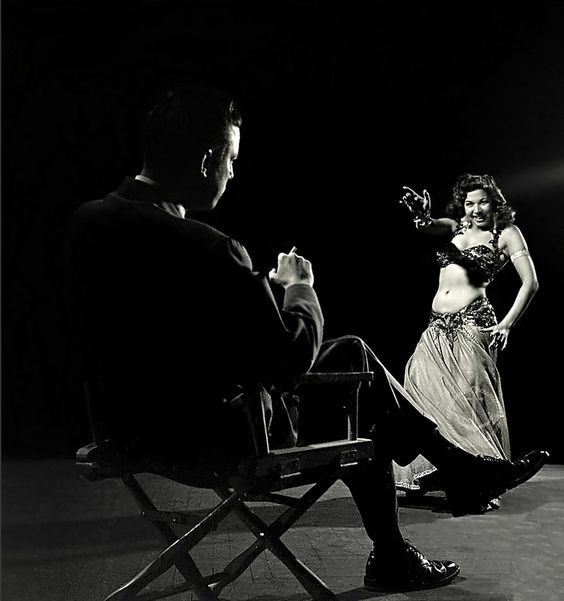 Samia Gamal with husband Shepard King III 1952    I think this is about one of the sexiest images ever!: