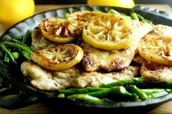 Lemon Chicken with Asparagus: