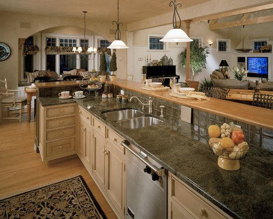 Small Open Plan Kitchen Living Room Design, Pictures