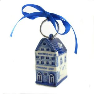 CHRISTMAS SHOP AMSTERDAM DELFT BLEU DECORATION 5.5 CM: