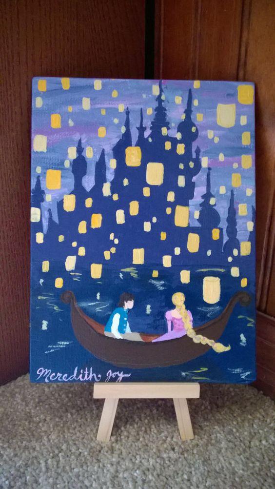 I See The Light Rapunzel Painting Disney Artwork