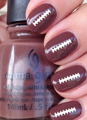 Football Ties Vinyl Nail Decals Stickers by CutecraftycreationUT on Etsy https://www.etsy.com/listing/203503750/football-ties-vinyl-nail-decals-stickers: