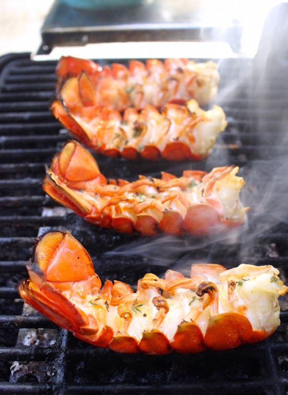 "Lemon Butter Grilled Lobster Tails Recipe | What Great Grandma Ate ""These paleo and gluten free Lemon Butter Grilled Lobster Tails are so easy to make, but tastes and looks like you spent hours in the kitchen!"""