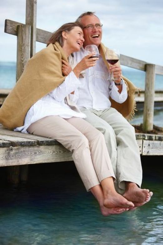 romantic ~ old couple: