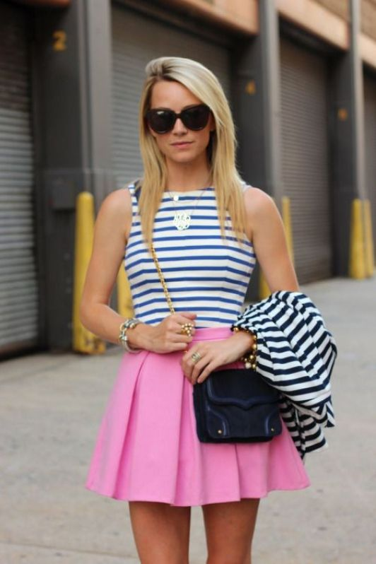 A top tucked into a skirt is perfect for a preppy outfit!