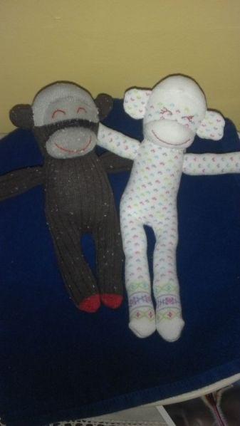 Baby sock monkeys: