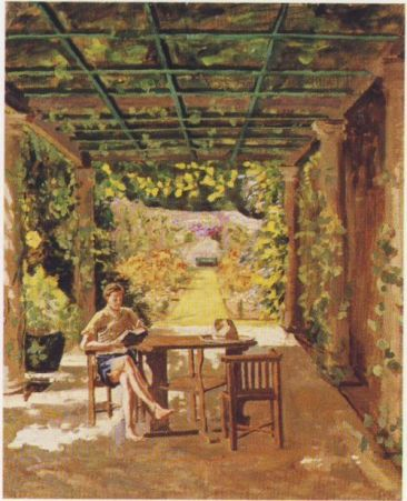 """""""Randolph Churchill Reading,"""" by Winston Churchill (1874-1965) 