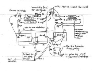Wiring Diagram for Blue Sea Add A Battery (Switch  ACR