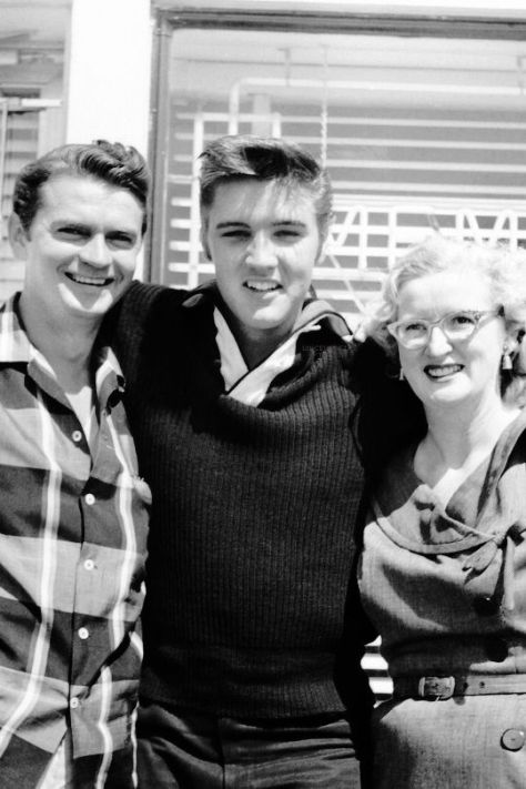 Photo Sam Phillips Elvis Presley Marion Keisker
