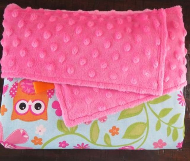 Ef Bb Bfbaby Girl Is Sure To Snuggle With This Owl Baby Blanket For Years To Come Super Stylish And Modern Pink Minky Blanket With Owls Is A Great Addition To The