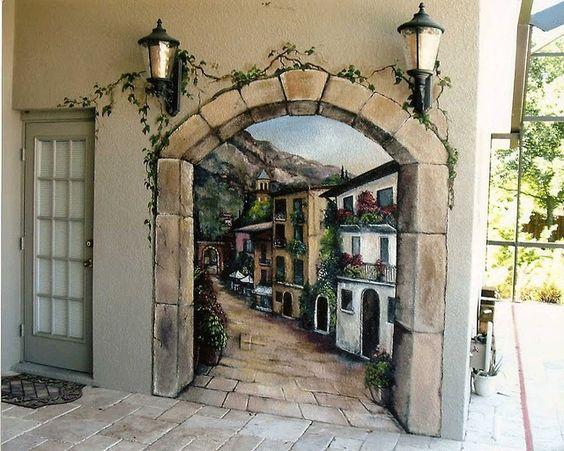 outdoor italian mural murals pinterest orlando on wall murals id=81794