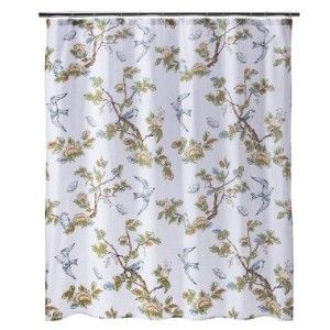 New Target Threshold Home Blue Bird Shower Curtain Bath Towel 2 Hand Towels Hand Towels