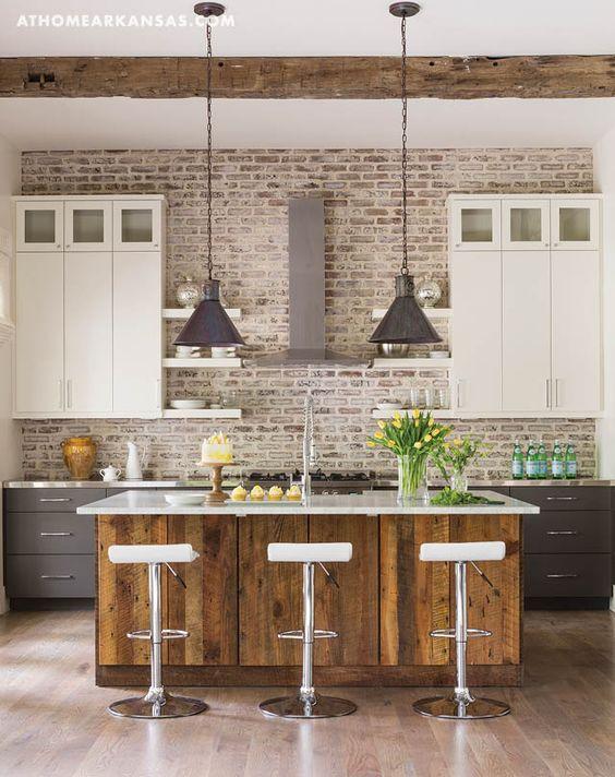 Kitchen Ceilings Arkansas And Whitewashed Brick On Pinterest