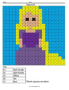 Color By Numbers Rapunzel And Numbers