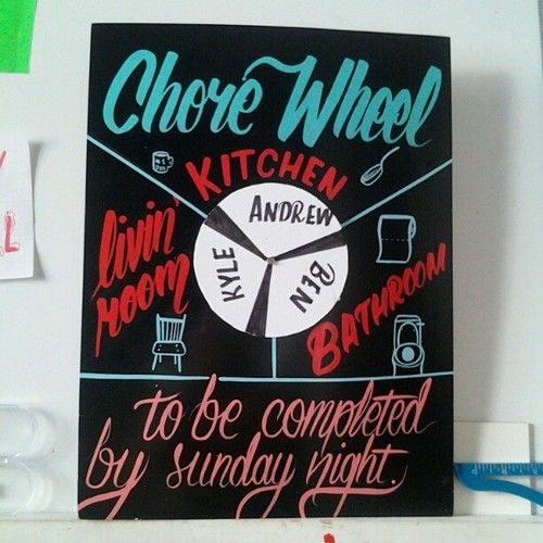 A Chore Wheel Is A Great DIY Dorm Room Decor Idea! Part 57