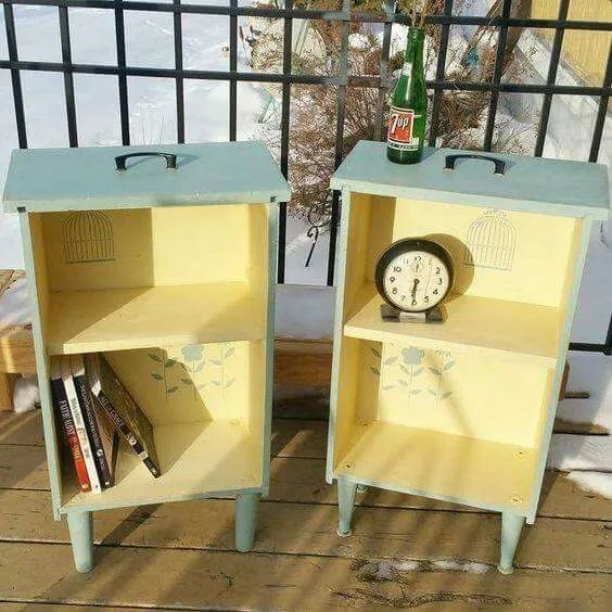 16 fabulous ways to repurpose old dresser drawers - side tables