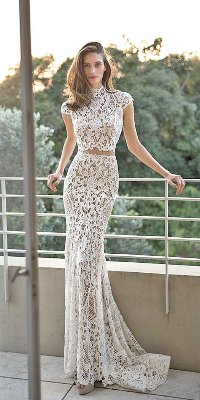 Bridal Separates Gowns And#8211; Breaking The Rules ❤ See more: http://www.weddingforward.com/breaking-the-rules-bridal-separates/ #weddings: