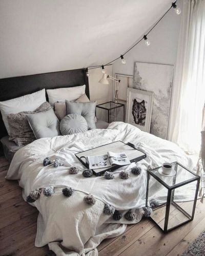 Bedroom Ideas Gray Bedding Hardwood Floors Minimalist Interior Design