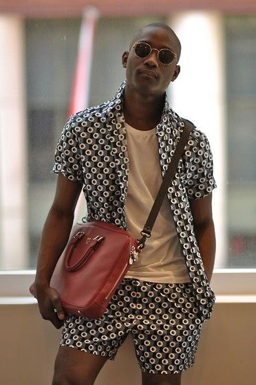 African Men's fashion & style i love this look! the print is awesome!: