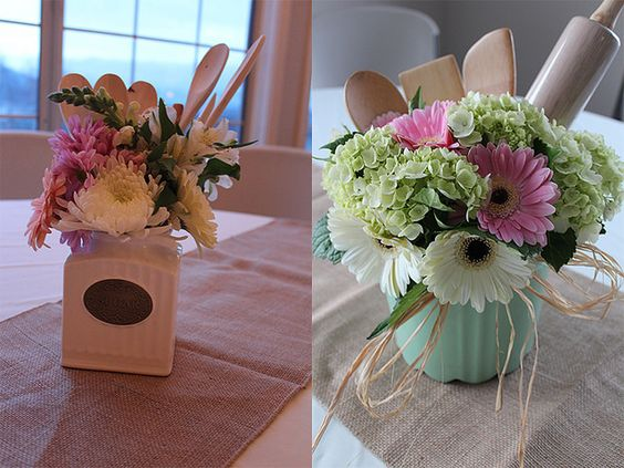 Themed Bridal Showers, Bride To Be And Flower Arrangements