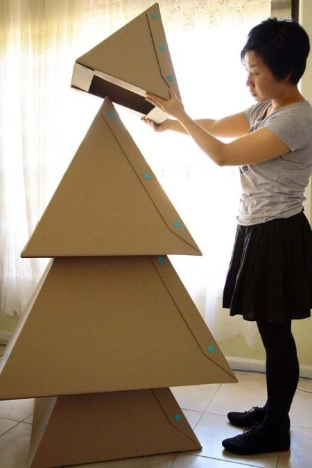Alternative Christmas Tree Ideas Non Traditional Trees Cardboard DIY