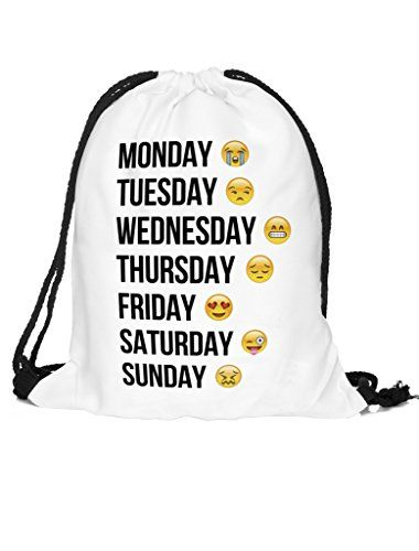 Dimayar 18''X13.75'' Emoji Sackpack Team Training Gymsack…: