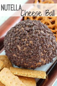 I  have a sweet tooth, and when I was introduced to the deliciousness of Nutella, I was a goner. This Nutella Cheese Ball is perfect for a party (or midnight snack, your choice). The sweet creaminess, the hazelnut and the chocolate chips, all so perfect with crunchy cookies or graham crackers. I dare you to …: